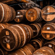 Cognac barrels more than 100 years old — Stock Photo #35123967