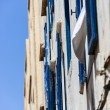 Windows of Houses in the old Medina of Essaouira, Morocco — Stock Photo