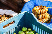 Various vegetables and fruits at market in Essaouira, Morocco — Stock Photo