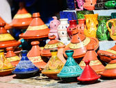 Traditional moroccan earthenware at Essaouira — Stockfoto
