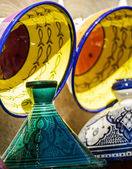Traditional moroccan earthenware at Essaouira — Stock Photo