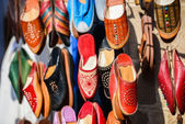 Colourful Moroccan slippers, Marrakesh — Stock Photo