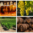 Collage about vineyard and wine industry — Stock Photo #36108935