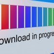 Closeup of Download Process Bar on Screen — Stock Photo