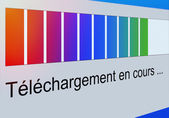 Closeup of Download Process Bar on Screen — Stock Photo