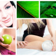 Composition on natural body care — Stock Photo