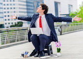 Junior executive of company free of any constraint — Stock Photo