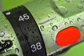 Closeup on mixer tap shower — Stock Photo