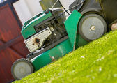 Close up of lawn mower — Stock Photo