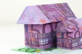 Euro bank notes House — Stock Photo