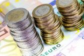 Single European currency decreasing — Stock Photo