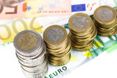 Single European currency decreasing — Stock Photo
