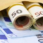 Envelope full of euro cash — Stock Photo #48301179