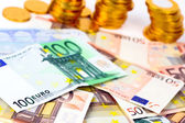 A lot of euro banknotes — Stock Photo