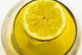 Limon on Alcohol glass — Stock Photo