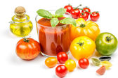 Tomato Juice and Fresh Tomatoes — Foto de Stock