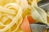 Closeup shoot of different types of pasta — Stock Photo