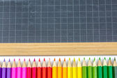 Closeup on colorful school supplies — Stock Photo