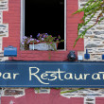 Storefront of french restaurant — Stock Photo #51328607