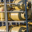 Stacks of gas cylinders on a distributor — Stock Photo #51329697
