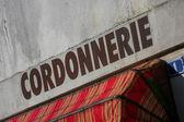 Old french shoemaking — Stock Photo
