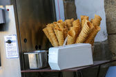 Waffle Cones in an Ice Cream Shop — Stock Photo