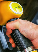 Driver pumping gasoline at the gas station, — Stock Photo