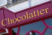Frontstore of an chocolate shop — Stock Photo