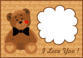 Frame in love bear — Stock Vector