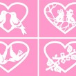 A set of cards to Valentine's Day. — Imagen vectorial