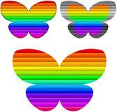 Set di colori farfalla — Vettoriale Stock
