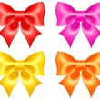 Collection of colored bows - Stock Vector
