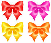 Collection of colored bows — Wektor stockowy