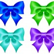 Royalty-Free Stock Imagen vectorial: Set of colored bows
