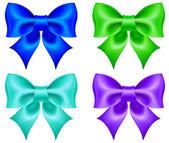 Set of colored bows — Vetor de Stock