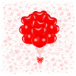 Red balloons — Stock Vector