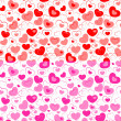Dual seamless hearts pattern — Stock Vector