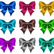 Royalty-Free Stock Imagen vectorial: Set of textured bows