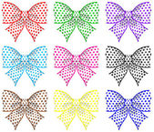Festive bows — Stock Vector