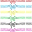 Stock Vector: Festive bows with ribbons