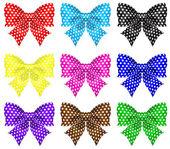 Bows with polka dot — Stock Vector
