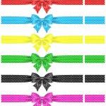 Polka dot bows with ribbons — Stock Vector #28652281