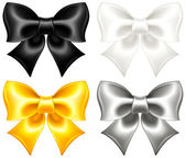 Festive bows black and gold — Stock Vector