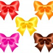 Stock Vector: Silk bows in warm colors