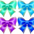 Silk bows in cool colors with golden edging — Stock Vector #32133621