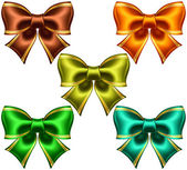 Festive bows with golden edging — Stock Vector