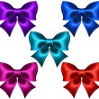 Silk colored bows — Stock Vector