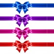 Festive bows with glitter and ribbons — Stock Vector #37652451
