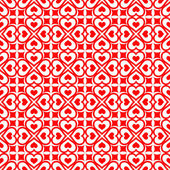 Festive seamless of red hearts — Stock vektor