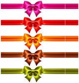 Festliche bögen in warmen farben mit bändern — Vector de stock